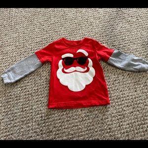Carter's Layered Look Santa Waffle Shirt 24 M